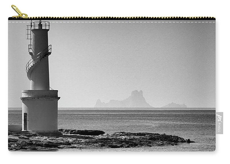 Balearics Carry-all Pouch featuring the photograph Far De La Savina Lighthouse, Formentera by John Edwards