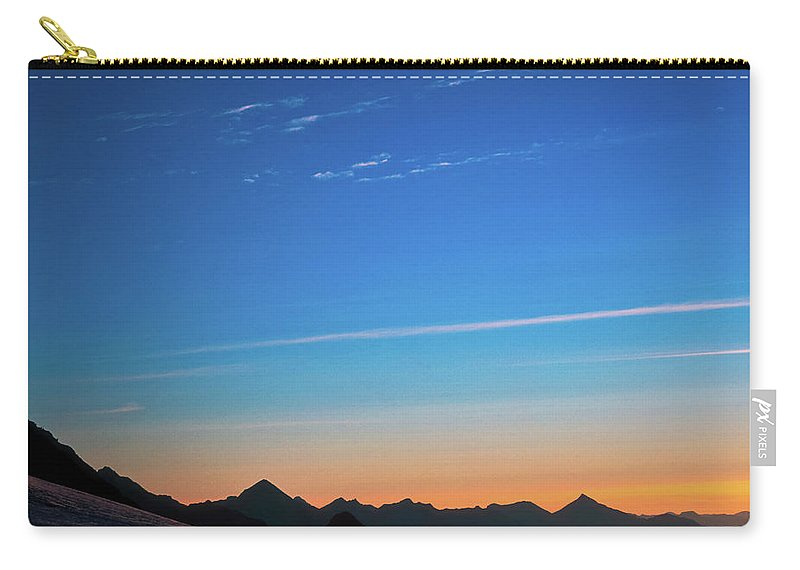 Alone Carry-all Pouch featuring the photograph Far Mountains by Konstantin Dikovsky