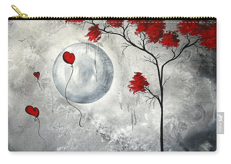 Abstract Carry-all Pouch featuring the painting Far Side of the Moon by MADART by Megan Duncanson