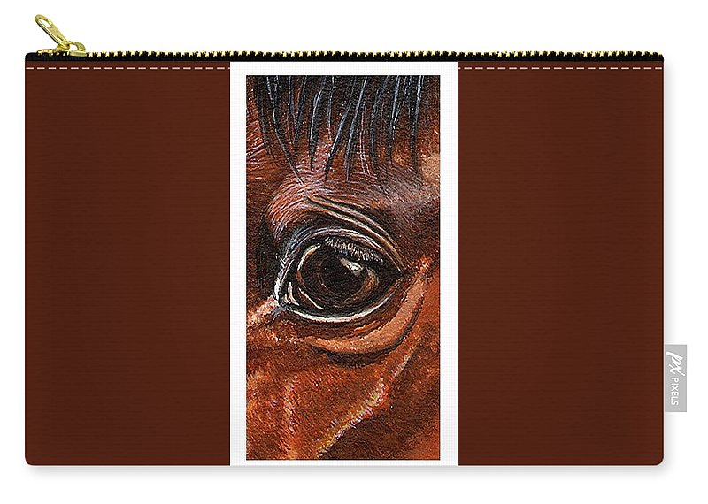 Horse Carry-all Pouch featuring the painting Farley Detail by Kristen Wesch