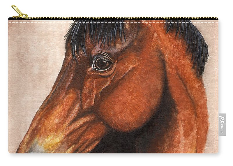 Horse Carry-all Pouch featuring the painting Farley by Kristen Wesch