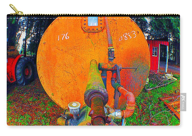 Clay Carry-all Pouch featuring the photograph Farm And Logging Machinery by Clayton Bruster