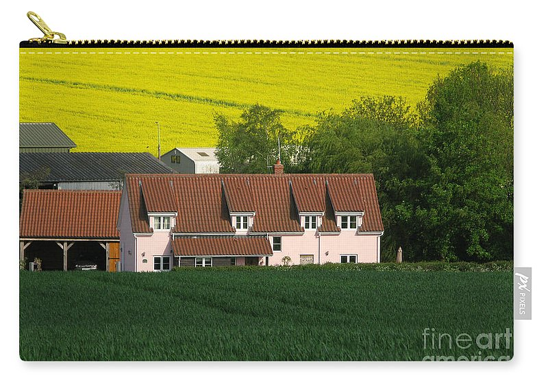 Farm Carry-all Pouch featuring the photograph Farm Fields by Ann Horn