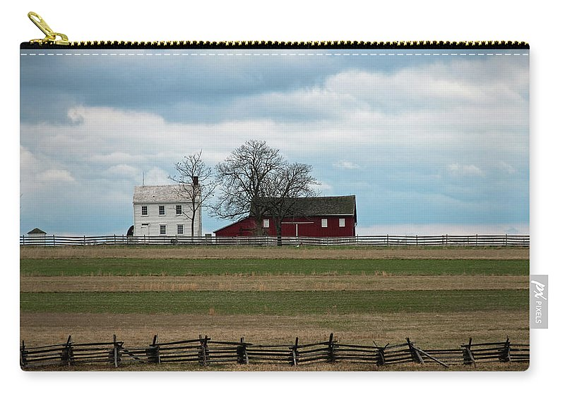 Farm House Carry-all Pouch featuring the photograph Farm House And Barn by David Arment