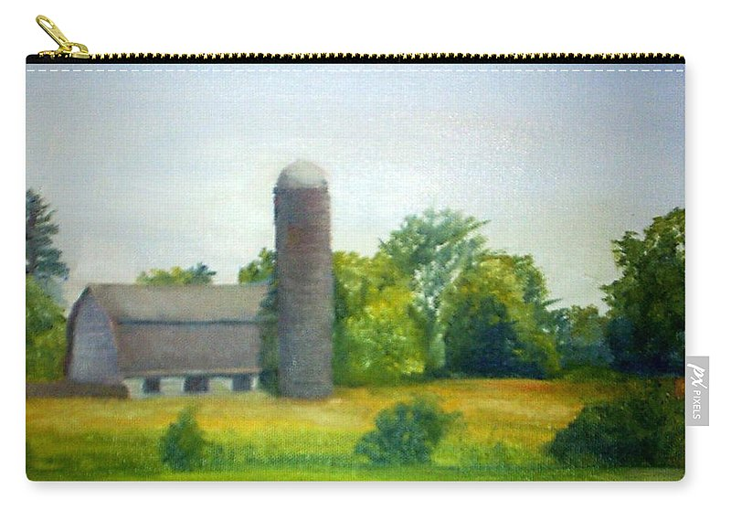 Farm Carry-all Pouch featuring the painting Farm In The Pine Barrens by Sheila Mashaw