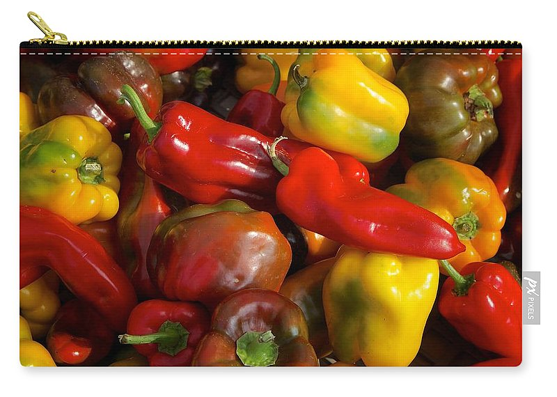 Peppers Carry-all Pouch featuring the photograph Farmers Market Bounty by Michaele Boncaro