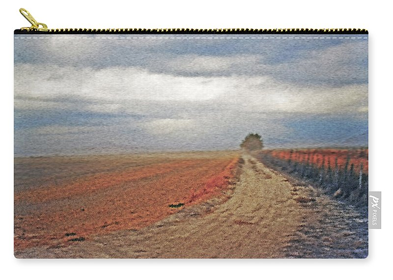 Farmland Carry-all Pouch featuring the photograph Farmland 3 by Steve Ohlsen