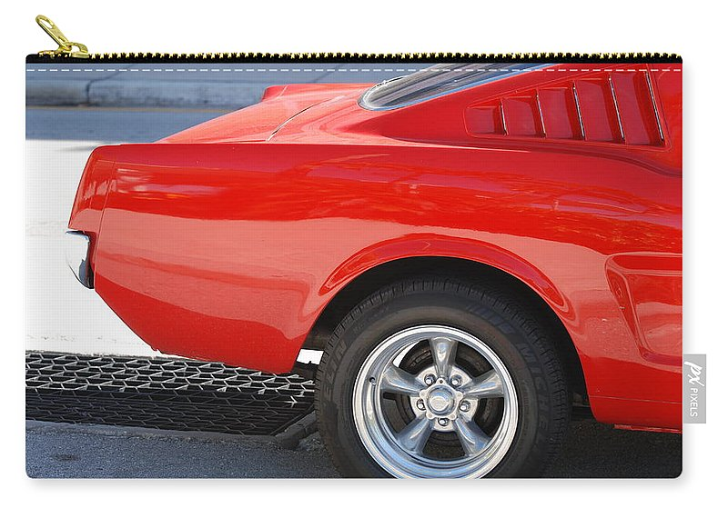 Ford Carry-all Pouch featuring the photograph Fastback Mustang by Rob Hans