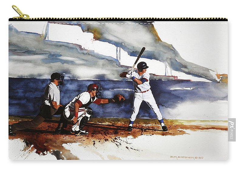 Baseball Carry-all Pouch featuring the painting Fastball by Dale Cooper