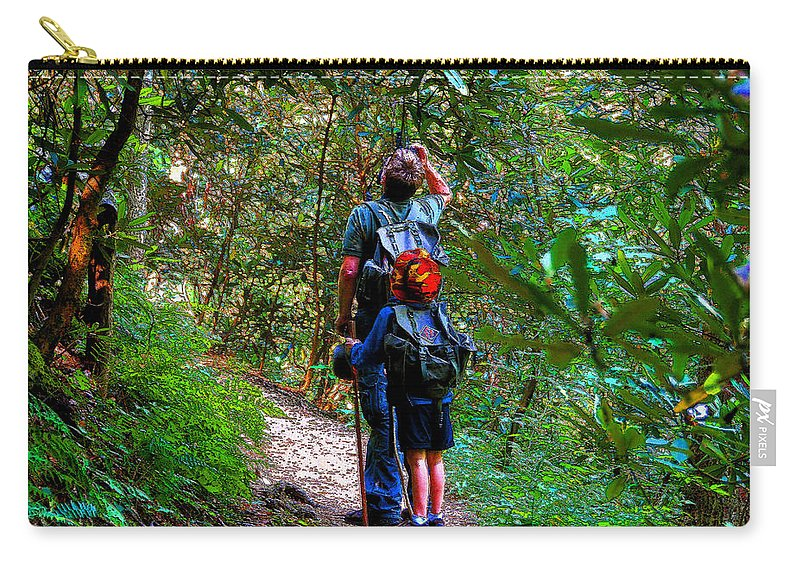 Father Carry-all Pouch featuring the painting Father And Son by David Lee Thompson