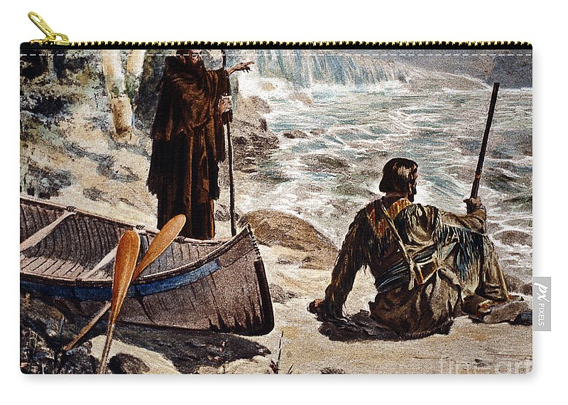1680 Carry-all Pouch featuring the painting Father Louis Hennepin by Granger