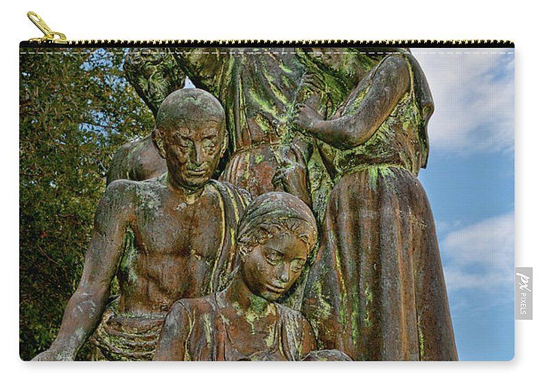 Statue Carry-all Pouch featuring the photograph Father Pedro Camps by Christopher Holmes