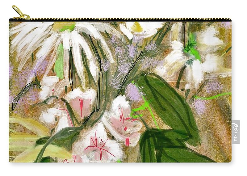 Spring Bouquet Carry-all Pouch featuring the digital art Father's Day by Mary Jane Mulholland