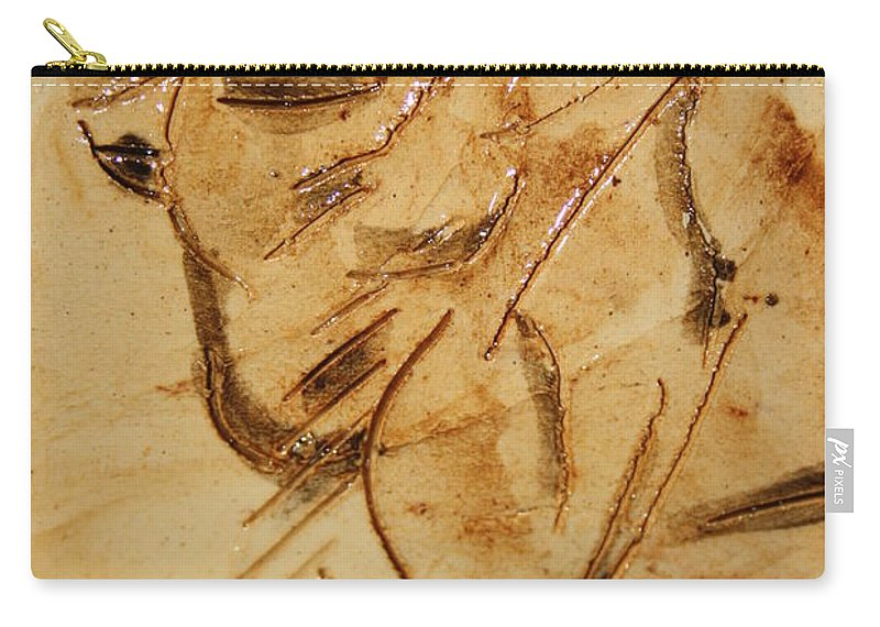 Gloria Ssali Carry-all Pouch featuring the ceramic art Fathers Joy Tile by Gloria Ssali