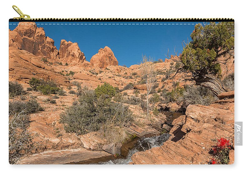 Trailsxposed Carry-all Pouch featuring the photograph Faux Falls Trail by Gina Herbert