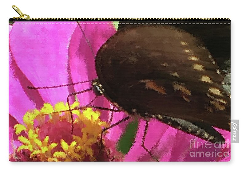 Favorite Dive Carry-all Pouch featuring the photograph Favorite Dive by Anita Faye
