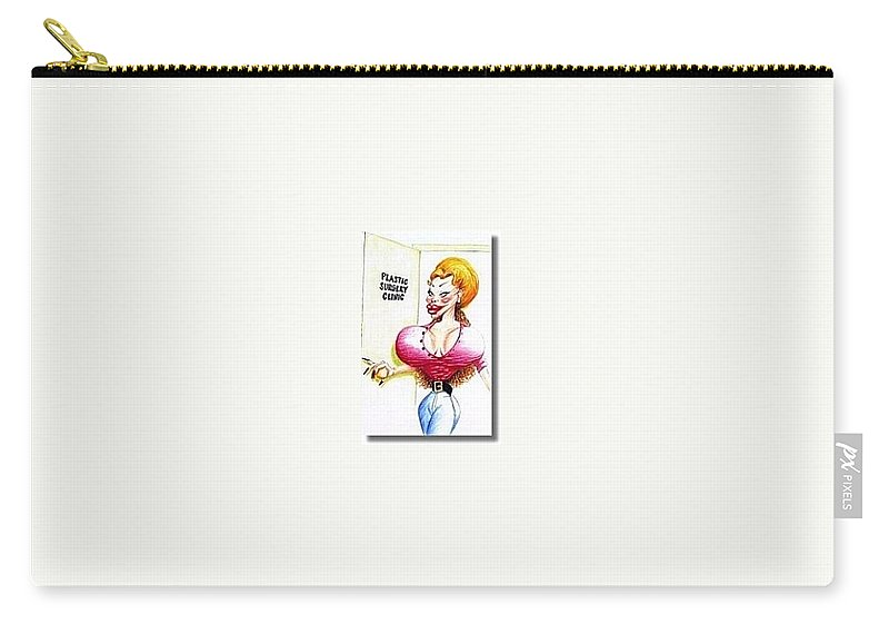 Humor Get Even Carry-all Pouch featuring the drawing Favorite Patient by Bruce Lennon
