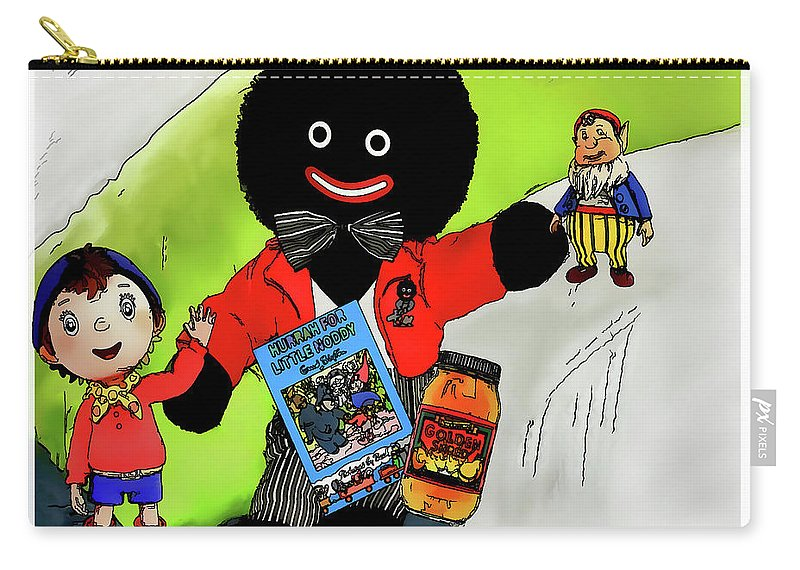 Golliwog Carry-all Pouch featuring the digital art Favourite Childhood Memories by Pennie McCracken