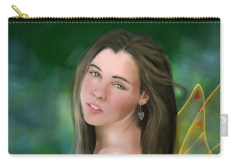 Fay Carry-all Pouch featuring the painting Fay by Maggie Terlecki