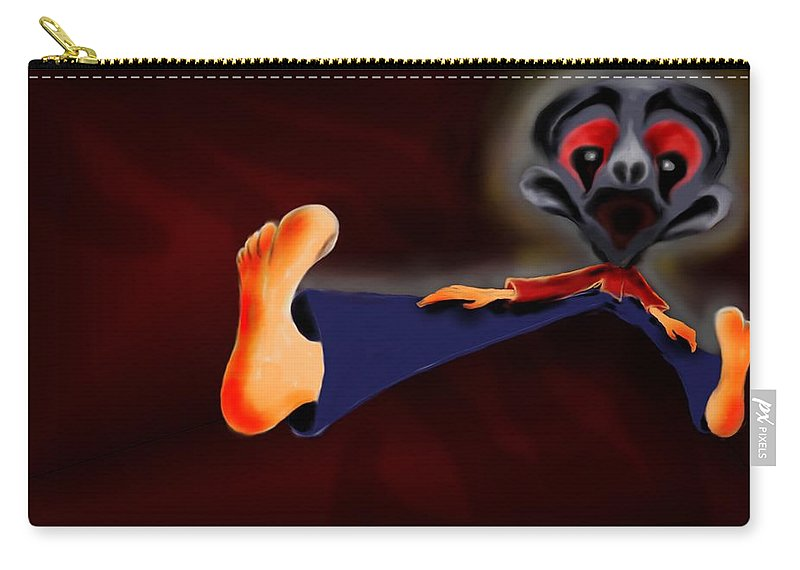 Dream Carry-all Pouch featuring the painting Fear Dream by Helmut Rottler