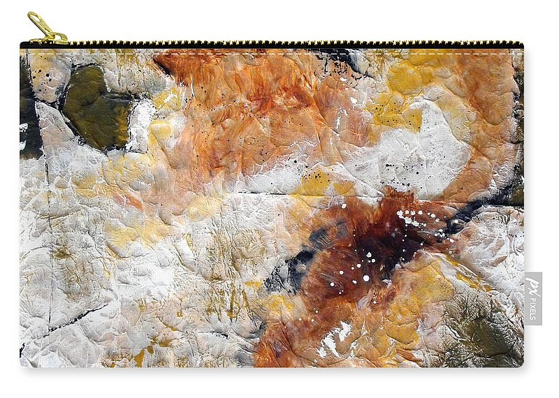 Abstract Carry-all Pouch featuring the painting Fear Of The Unknown Close-up by Ruth Palmer
