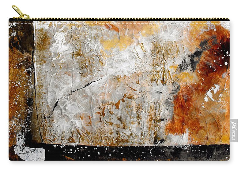 Abstract Carry-all Pouch featuring the painting Fear Of The Unknown by Ruth Palmer