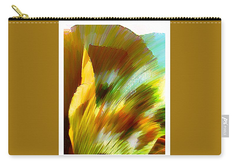 Landscape Digital Art Watercolor Water Color Mixed Media Carry-all Pouch featuring the digital art Feather by Anil Nene