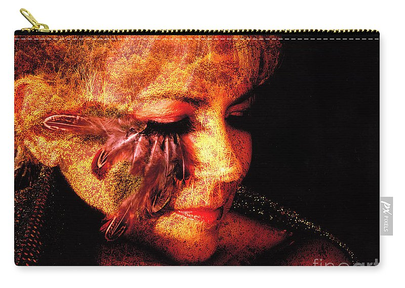 Clay Carry-all Pouch featuring the photograph Feathers Of Beauty by Clayton Bruster