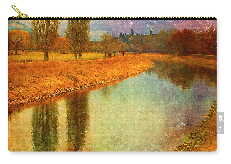 Texture Carry-all Pouch featuring the photograph February 3 2010 by Tara Turner