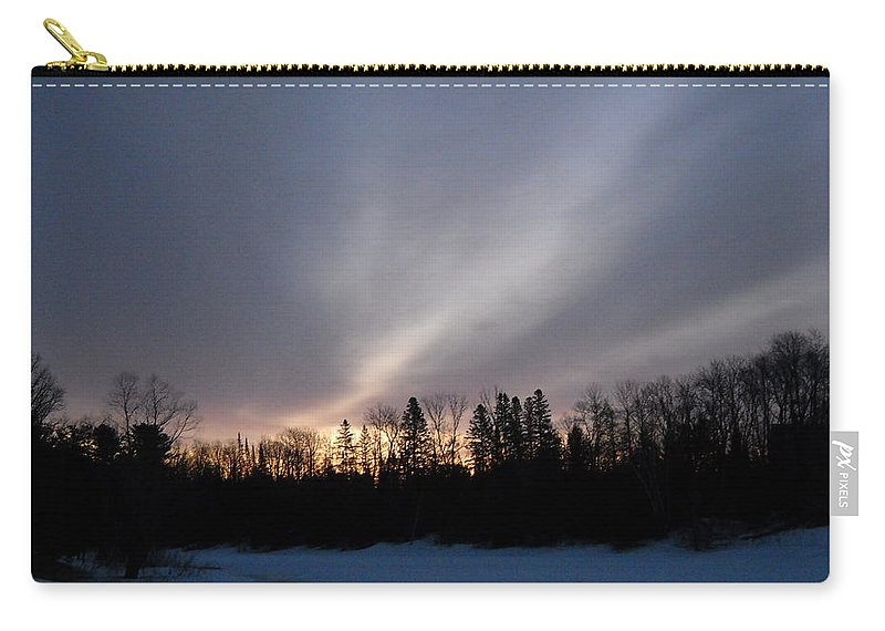 Dawn Carry-all Pouch featuring the photograph February Dawn Over Mississippi River by Kent Lorentzen
