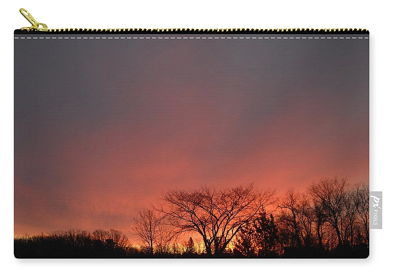 Sky Carry-all Pouch featuring the photograph February Morning Red Sky by Kent Lorentzen