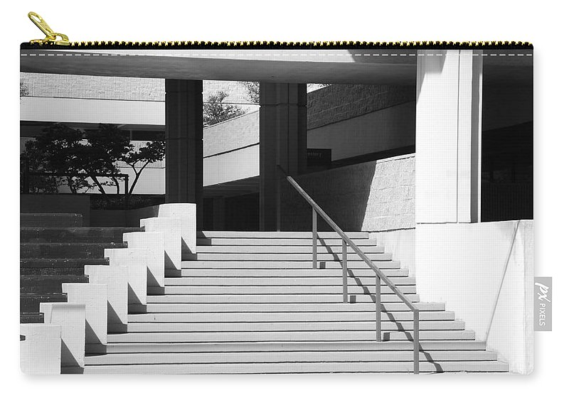 Architecture Carry-all Pouch featuring the photograph Federal Stairs by Rob Hans