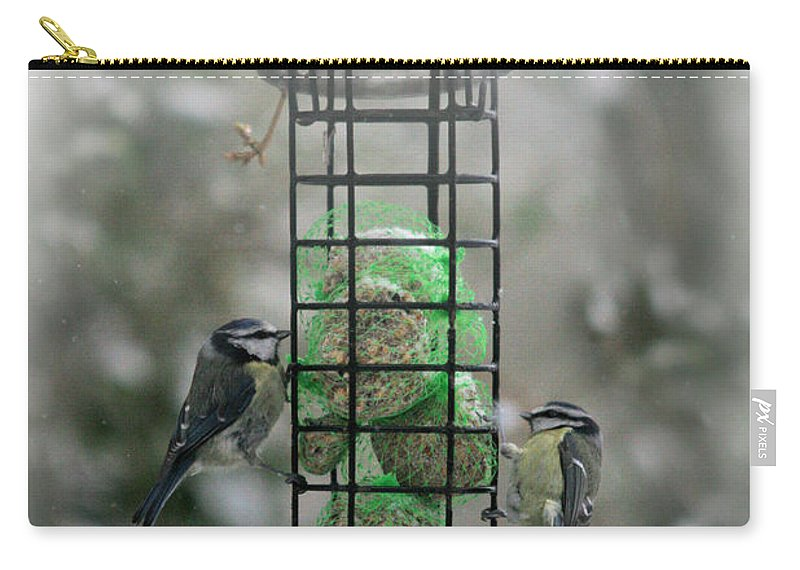 Winter Carry-all Pouch featuring the photograph Feed The Hunger by Angel Ciesniarska