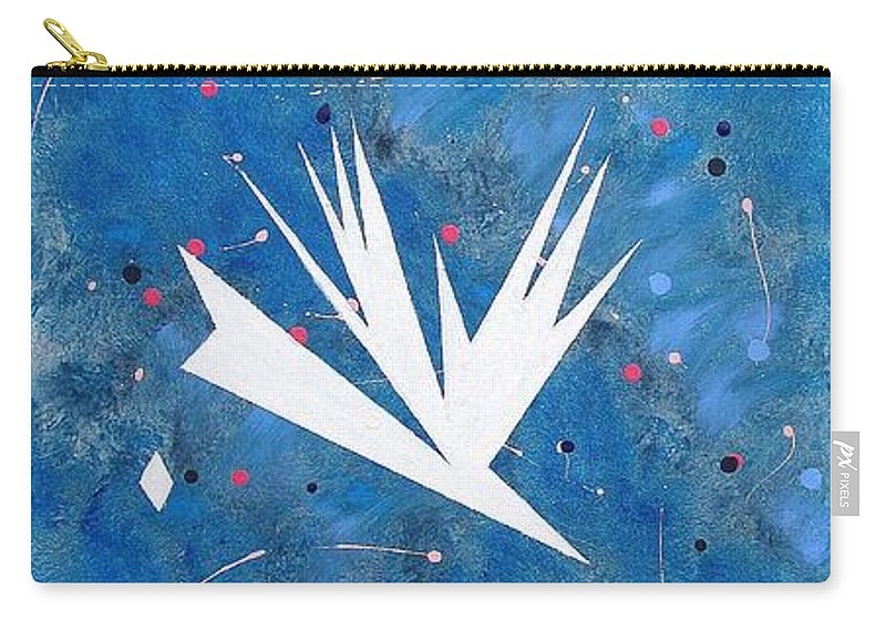 Birds And Diamond Stars Carry-all Pouch featuring the painting Feeding Frenzy by J R Seymour
