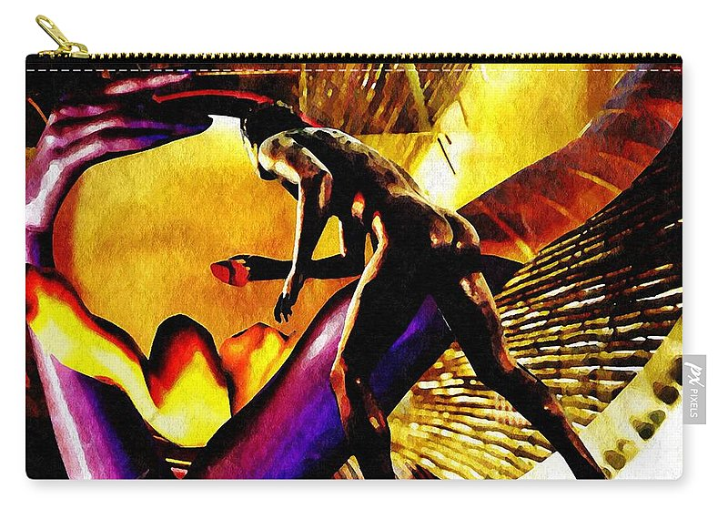 Statue Carry-all Pouch featuring the mixed media Feeding The Fire Within by Sarah Loft