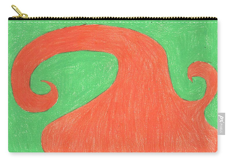 Spiral Tree Carry-all Pouch featuring the painting Feel Fall by Sindy Original