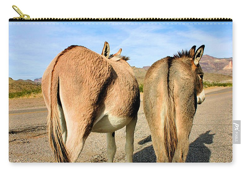 Burros Carry-all Pouch featuring the photograph Feelin A Little Behind by Kristin Elmquist