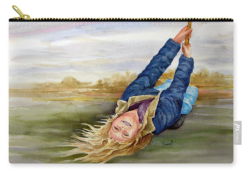 Seing Carry-all Pouch featuring the painting Feelin The Wind by Sam Sidders