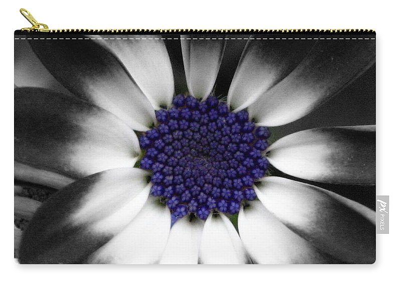 Floral Carry-all Pouch featuring the photograph Feeling Blue by Marla McFall