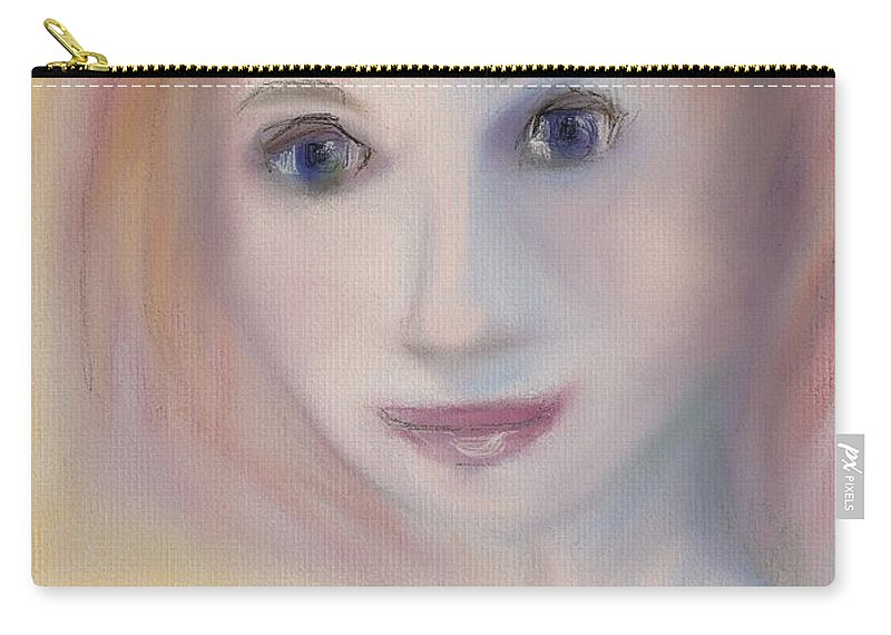 Artset Carry-all Pouch featuring the digital art Feeling Invisible by Mary Jane Mulholland