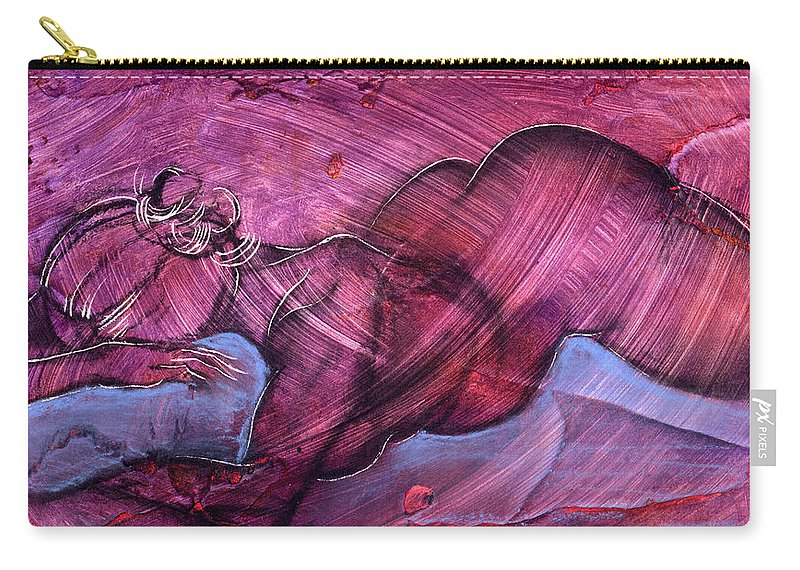 Nude Carry-all Pouch featuring the painting Feeling Sensuous by Richard Hoedl