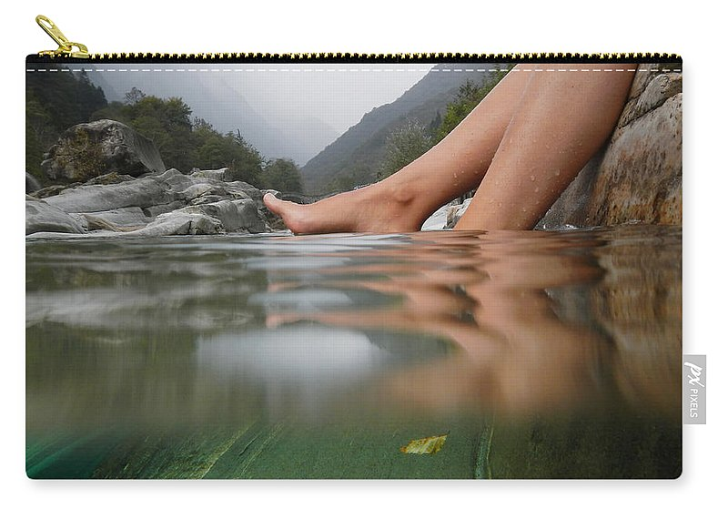 Feet Carry-all Pouch featuring the photograph Feet On The Water by Mats Silvan