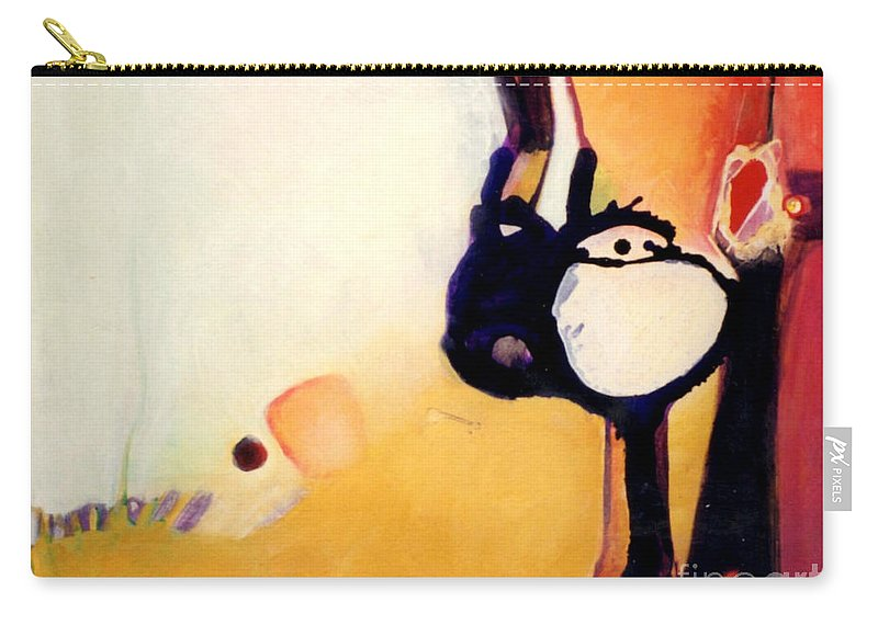 Abstract Carry-all Pouch featuring the painting Felix A Whole New Ballgame by Marlene Burns