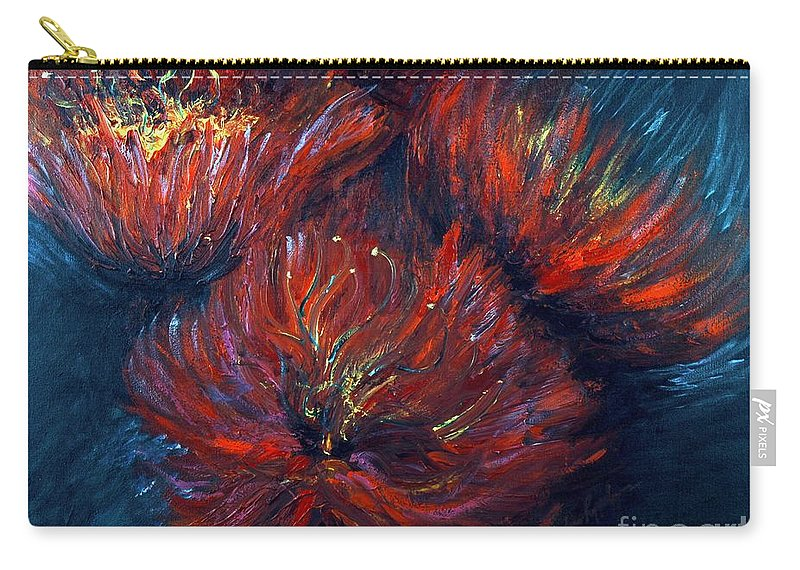 Abstract Carry-all Pouch featuring the painting Fellowship by Nadine Rippelmeyer