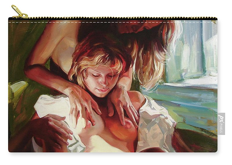 Ignatenko Carry-all Pouch featuring the painting Female secrets by Sergey Ignatenko