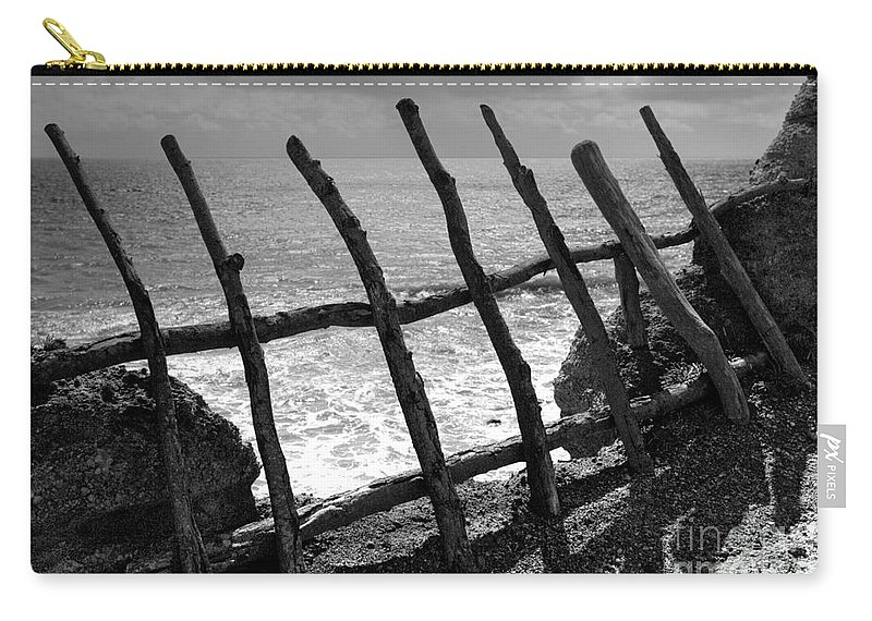 Atlantic Ocean Carry-all Pouch featuring the photograph Fence by Gaspar Avila
