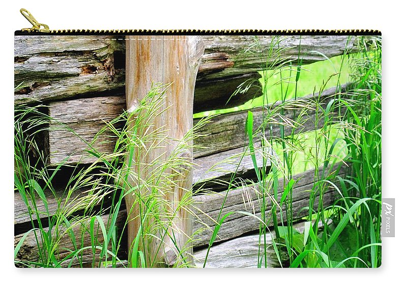 Fence Carry-all Pouch featuring the photograph Fence by Ian MacDonald