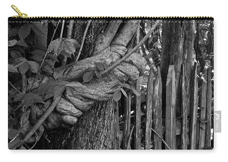 Fence Carry-all Pouch featuring the photograph Fence In The Tropics by Douglas Barnett