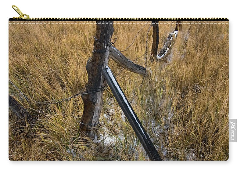 Landscapes Carry-all Pouch featuring the photograph Fence To Nowhere by Norman Andrus