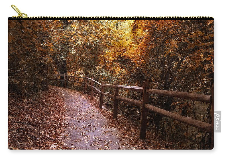 Seasonal Carry-all Pouch featuring the photograph Fenceline by Jessica Jenney